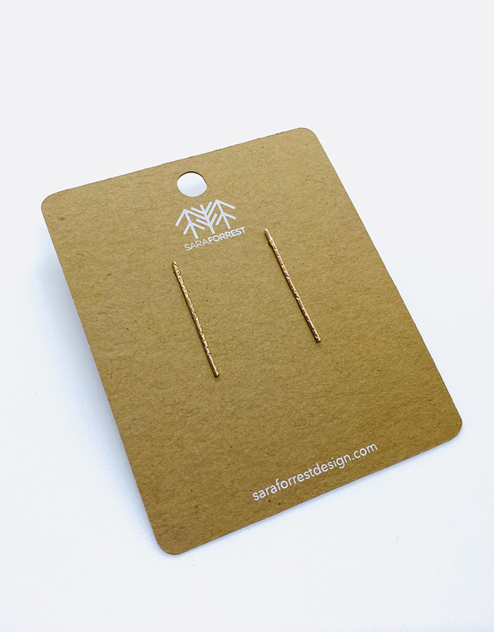 sara forrest design Gold Filled Bar Earrings by Sara Forrest Design