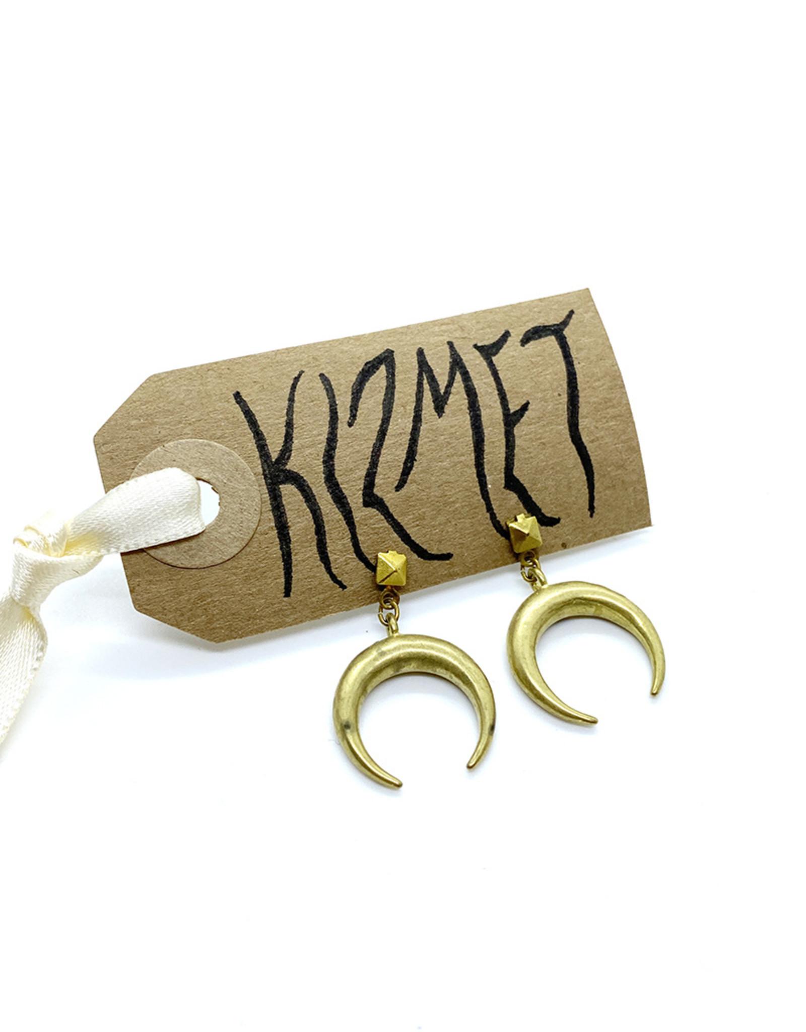 kizmet jewelry Brass Crescent Earrings by Kizmet Jewelry