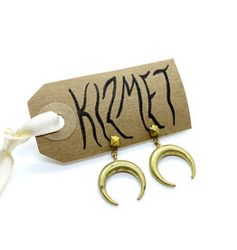 kizmet jewelry Brass Crescent Earrings by Kizmet Jewelry
