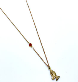 kizmet jewelry Prayer Hands Necklace by Kizmet Jewelry