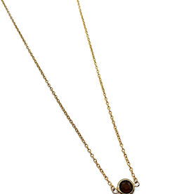 kizmet jewelry Brown Moss Colored Jewel Necklace by Kizmet Jewelry