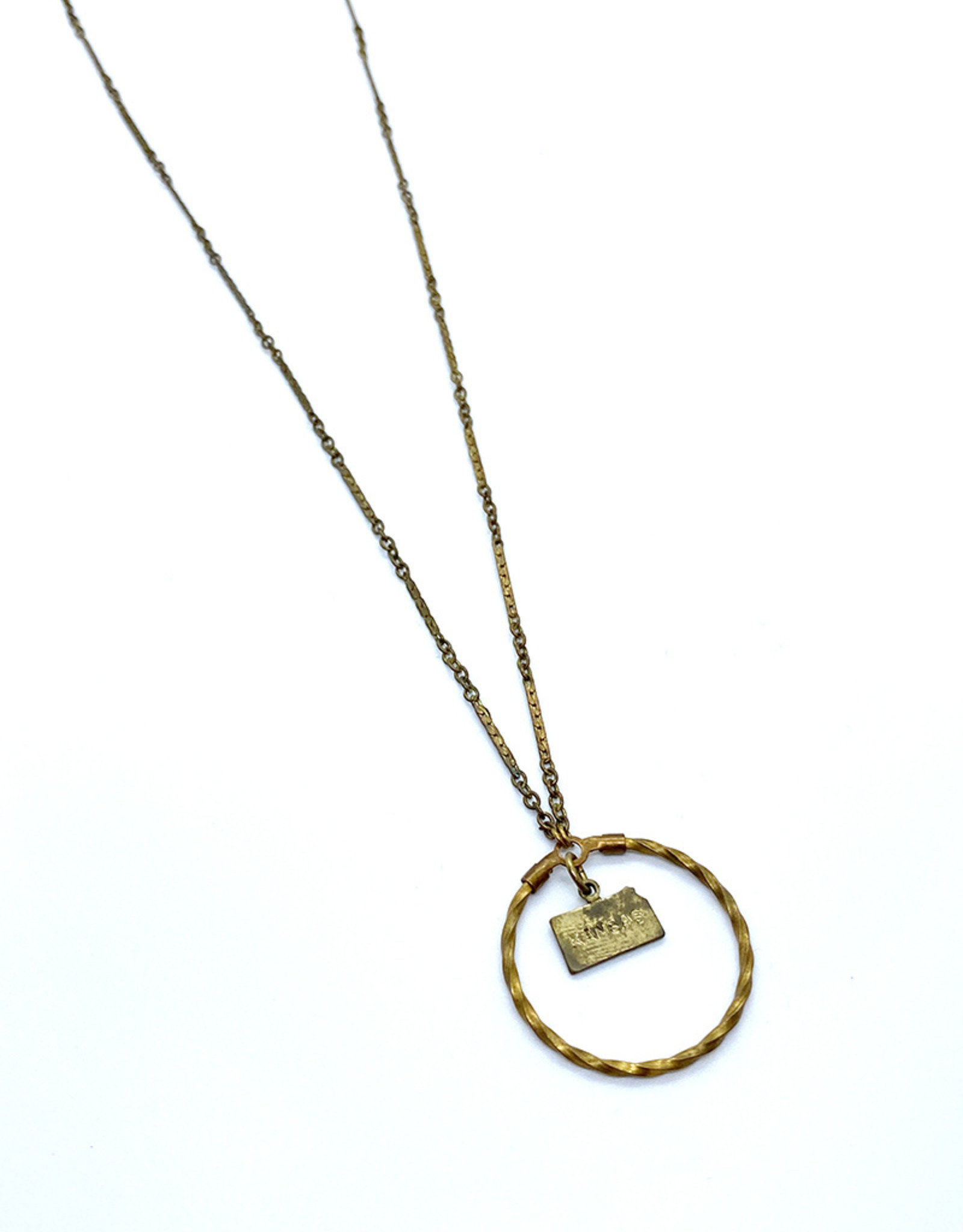 kizmet jewelry Kansas + Twisted Circle Necklace by Kizmet Jewelry