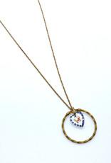 kizmet jewelry Butterfly in Braided Hoop Necklace by Kizmet Jewelry