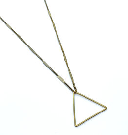 kizmet jewelry Brass Triangle Necklace by Kizmet Jewelry