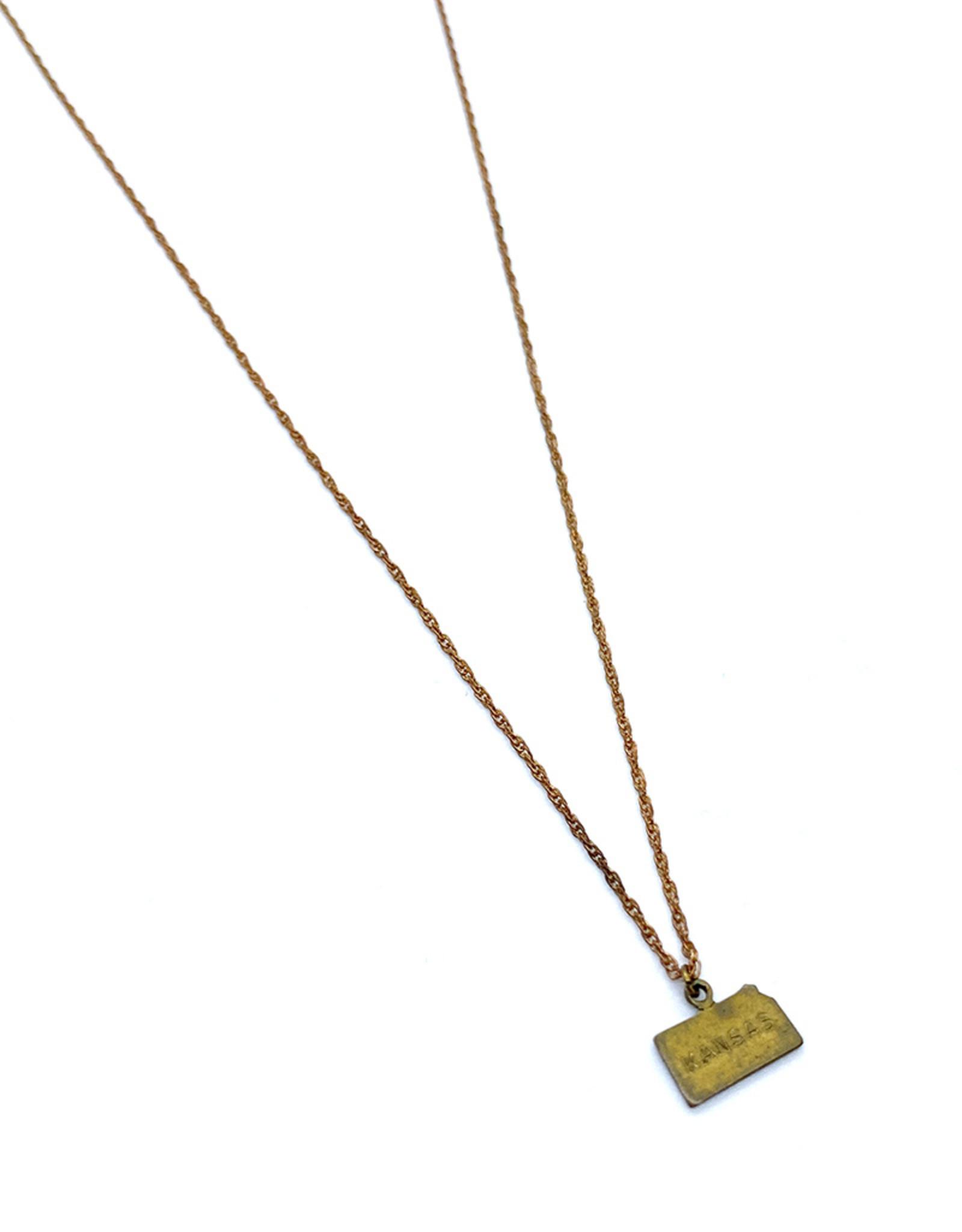 kizmet jewelry Kansas Charm + Copper Chain Necklace