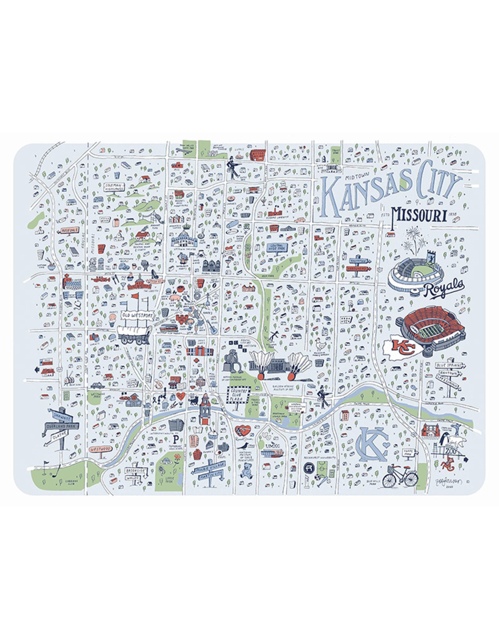 Zoe Larson Illustrated Map of Kansas City // Midtown