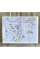 Zoe Larson Illustrated Map of Kansas City // Downtown