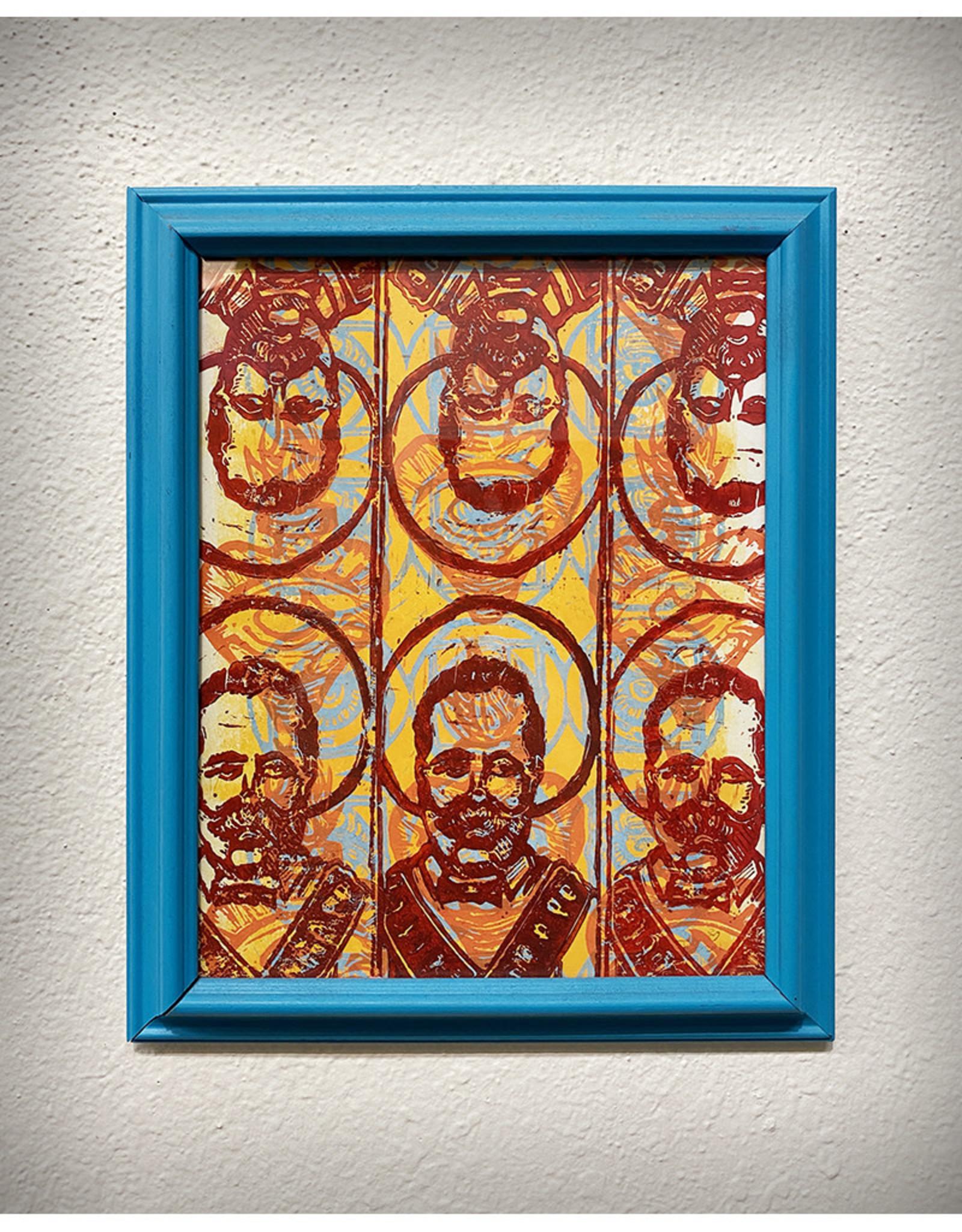 Paul Punzo Framed Poncho Villa Print by Paul Punzo