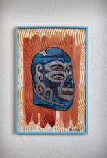Paul Punzo Framed Luchador Prints by Paul Punzo