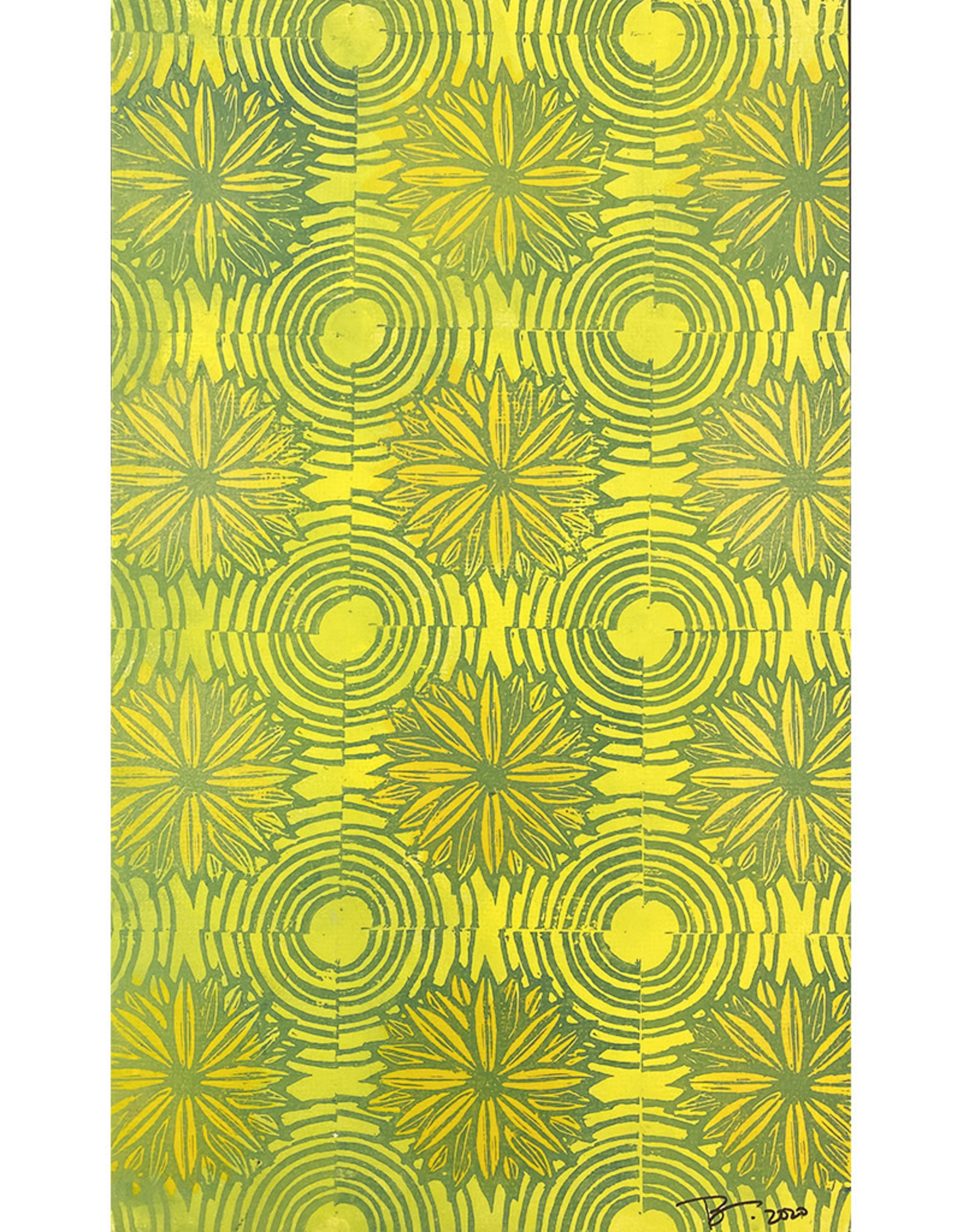 Paul Punzo Flowers + Circles 1 Wallpaper Print by Paul Punzo