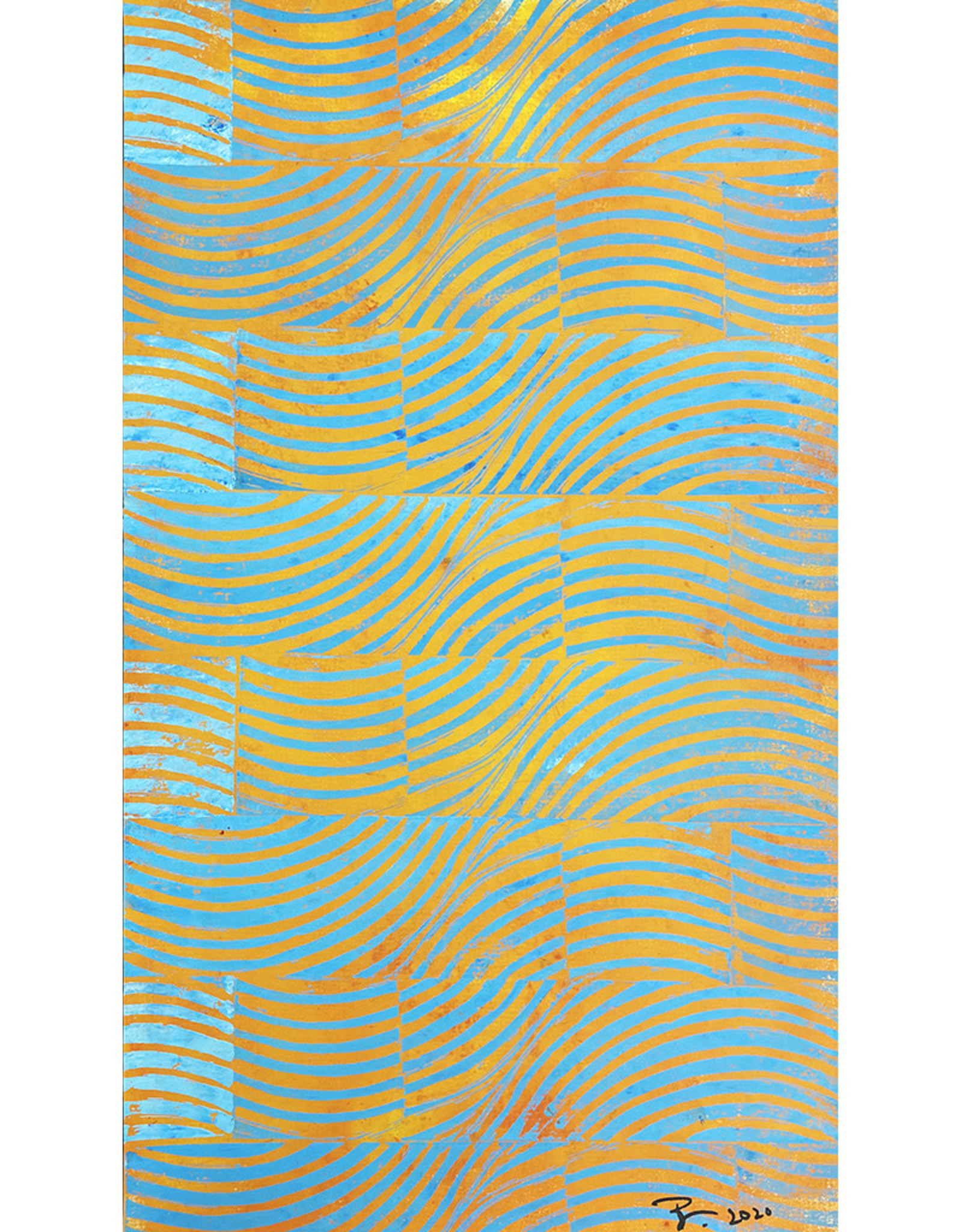 Paul Punzo Waves Wallpaper Print by Paul Punzo