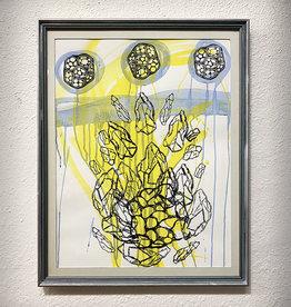 Paul Punzo Printmakers Collide Framed Print by Paul Punzo and Kelly Kotlinski