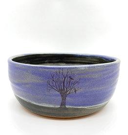 Melanie Harvey Pottery Birds in Tree Stoneware Bowl by Melanie Harvey