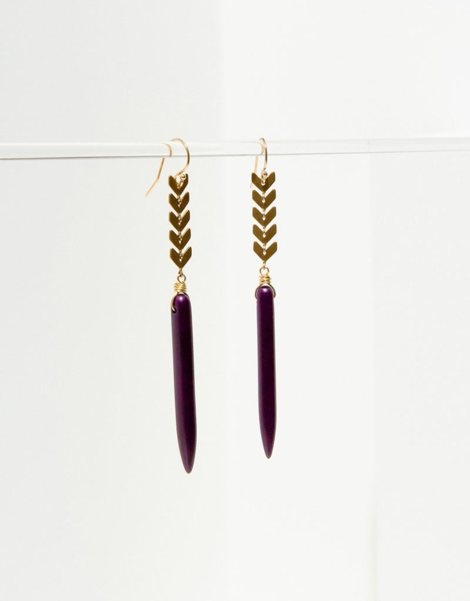 Larissa Loden Jewelry Chevron Spike Earrings by Larissa Loden Jewelry