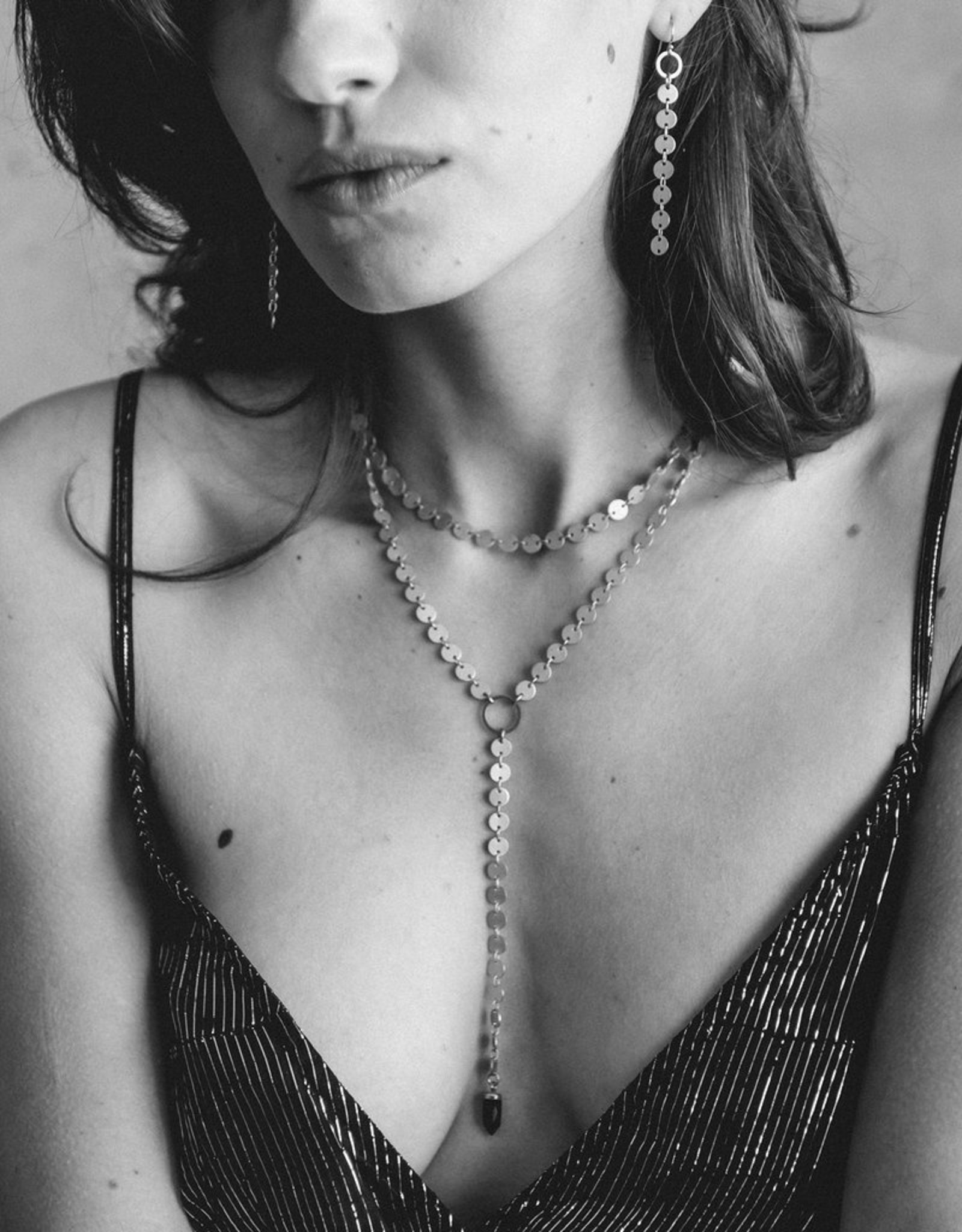 Larissa Loden Jewelry Circle Y Drop Necklace by Larissa Loden Jewelry