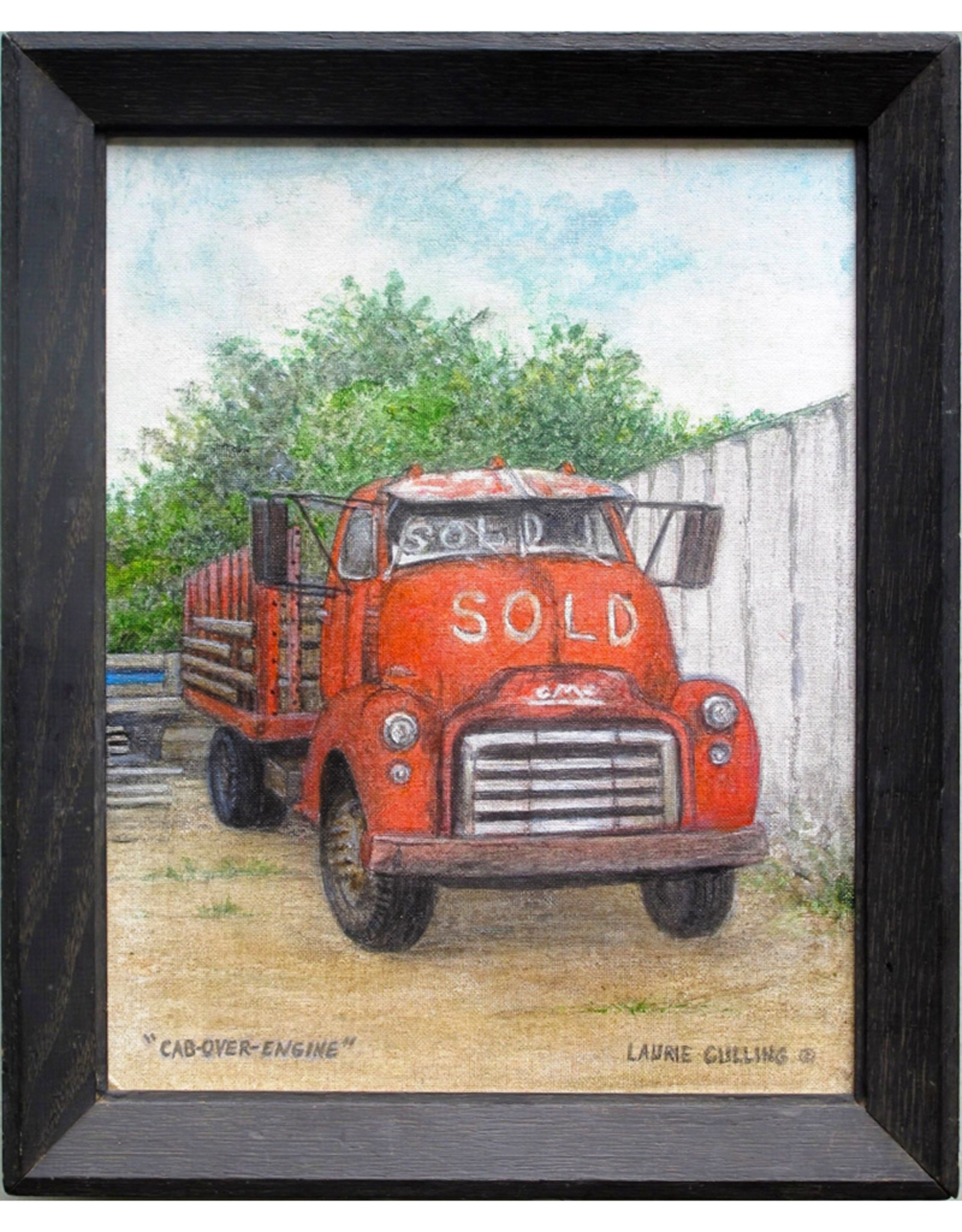 Laurie Culling Vintage Red Cab-Over-Engine GMC by Laurie Culling