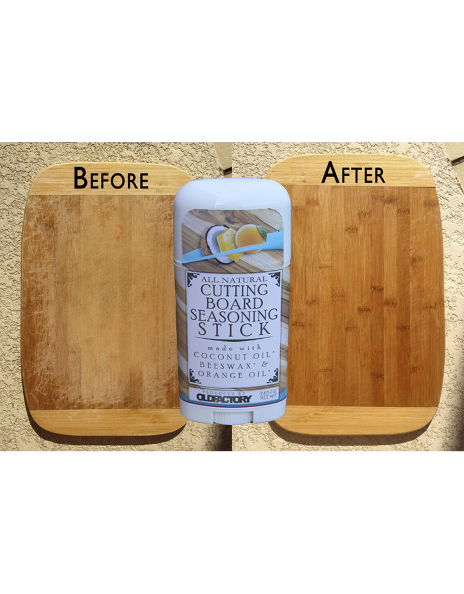 Old Factory All Natural Cutting Board Seasoning Wax // 2.65 oz Stick