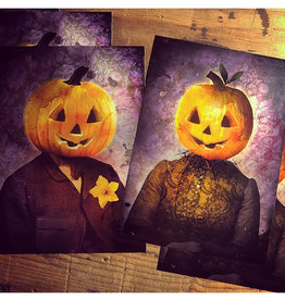 Bryan Fyffe Mr. and Mrs. Pumpkin Head Prints // Bryan Fyffe