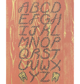 Anne Luben Bar Fight Type Specimin Print by Anne Luben