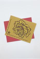 Anne Luben Flowers Letterpress Cards by Anne Luben