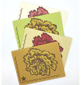 Anne Luben Flowers Letterpress Cards by Anne Luben