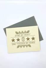 Anne Luben Sting My Heart and Sing Through My Bones Card