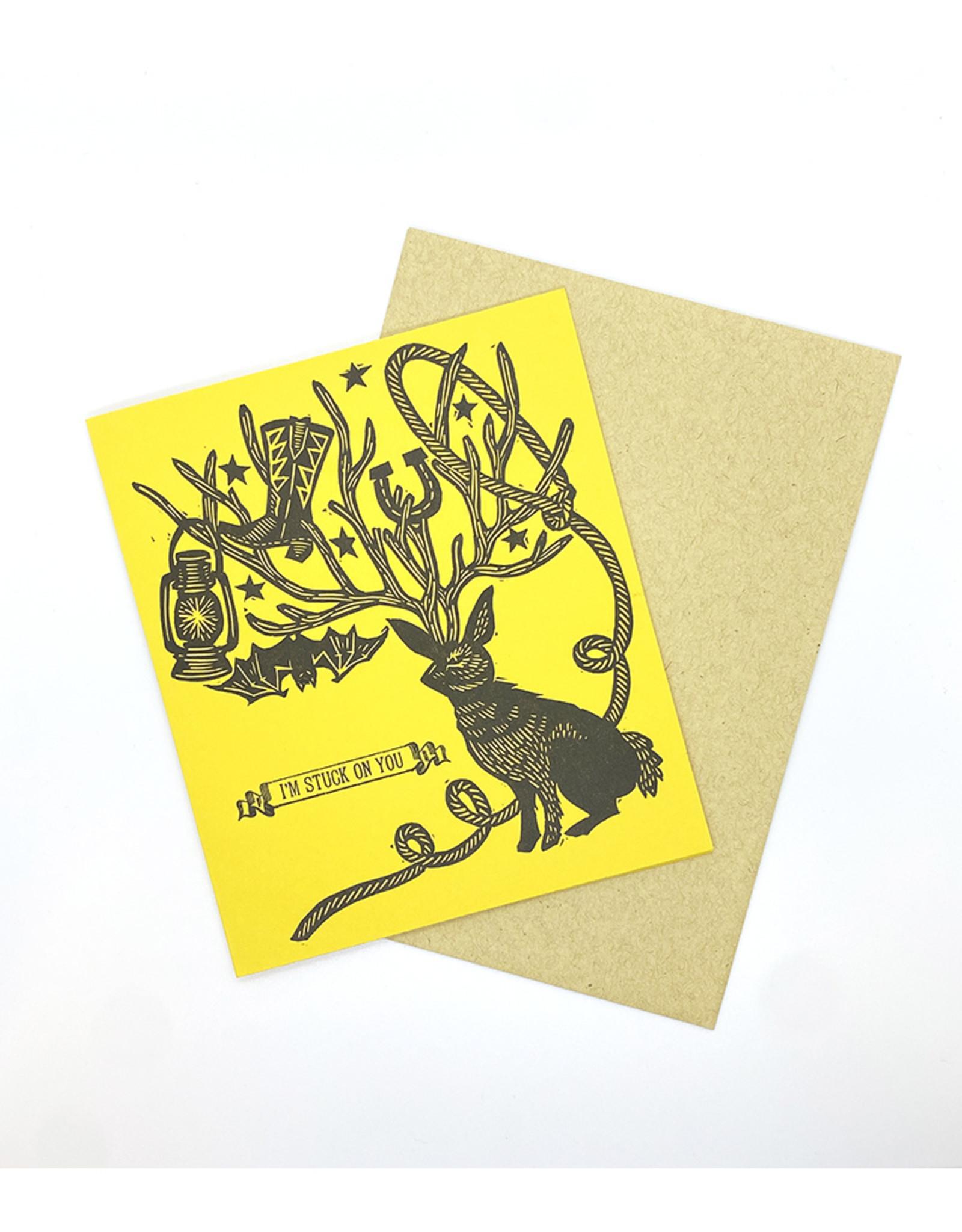 Anne Luben Stuck On You Letterpress Greeting Cards by Anne Luben