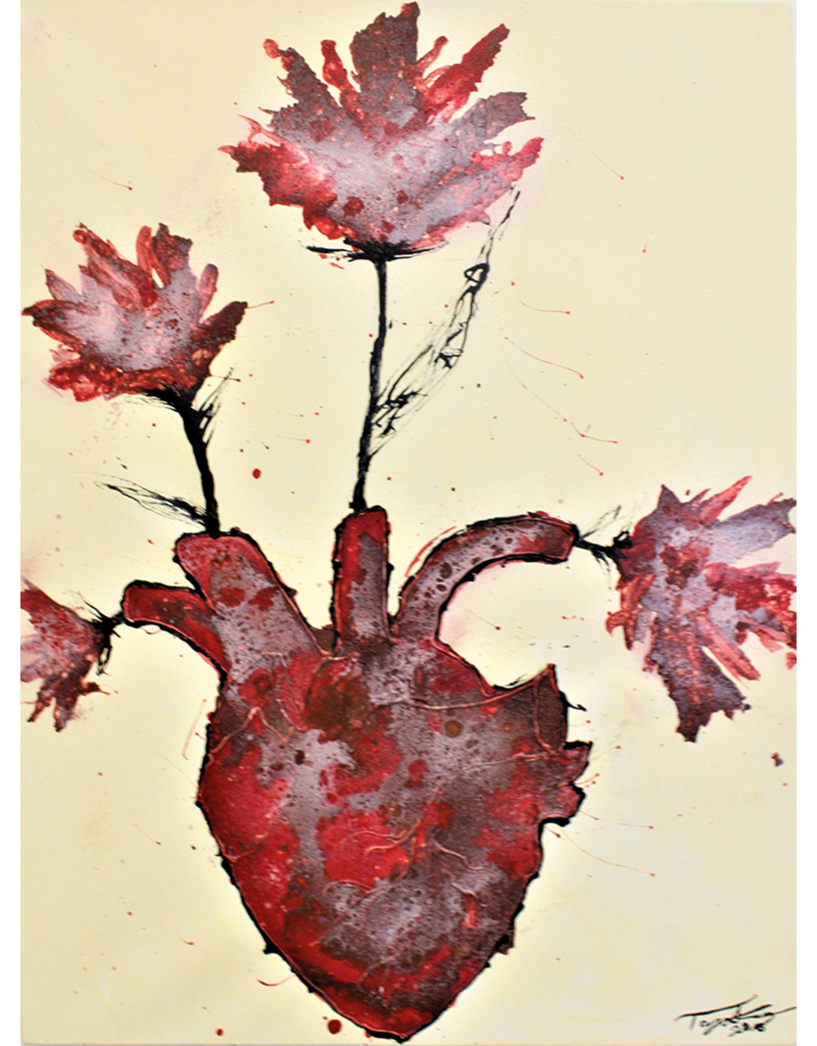 Tay Stark You Made My Heart Bloom Print by Tay Cambria