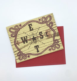 Anne Luben Directions Letterpress Greeting Card by Anne Luben
