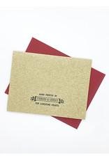Anne Luben Directions Letterpress Greeting Card by Anne Luben
