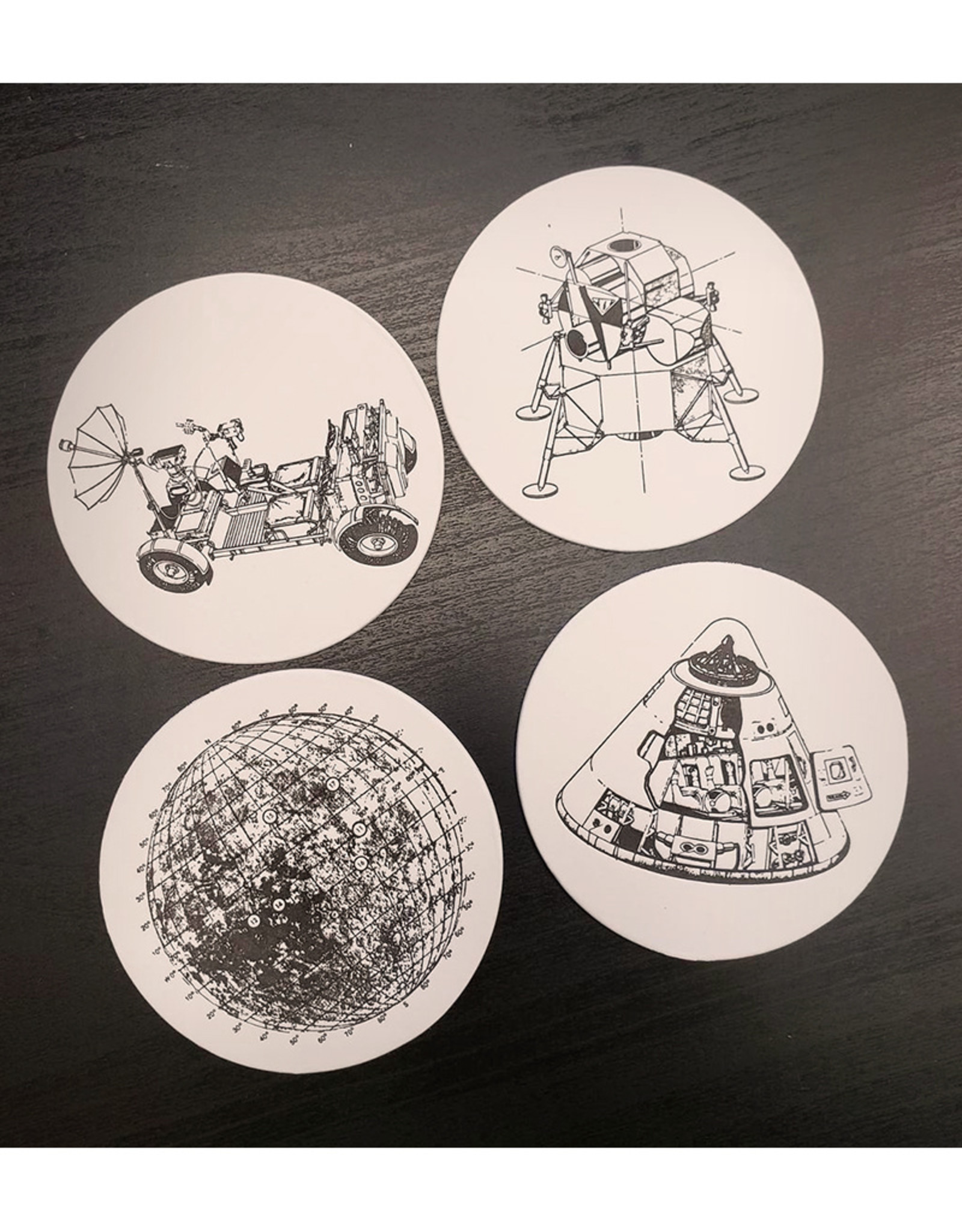 Skylab Letterpress Lunar Landing Coasters // 8 Pack by Skylab Letterpress