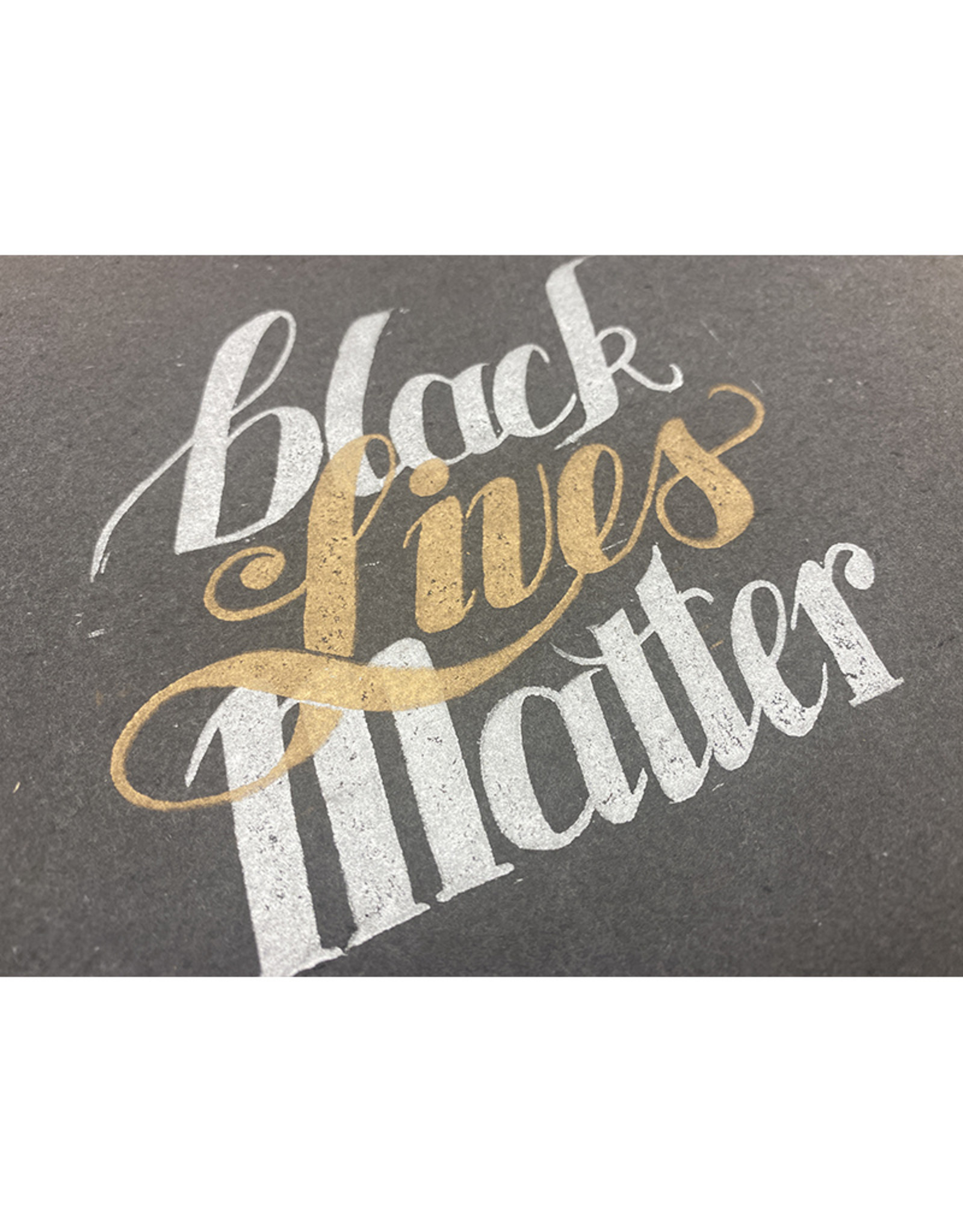 Janellabee Studio Black Lives Matter Block Print by Janellabee Studio