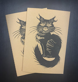 Janellabee Studio Black Cat Block Print Journals by Janellabee Studio