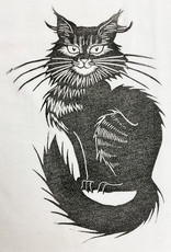 Janellabee Studio Hand Printed Black Cat Infant + Toddler Tee by Janellabee Studio
