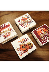 lantern press Vintage-Inspired Halloween Coasters // Set of 4