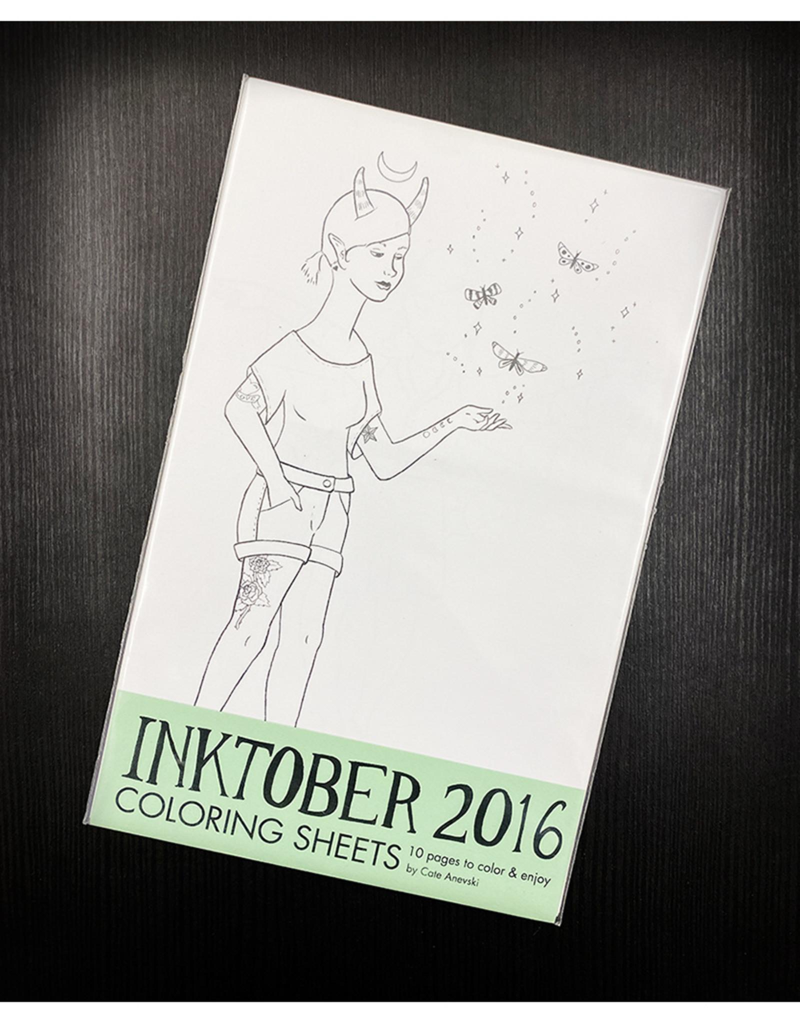 Bee's Knees Industries Inktober 2016 Coloring Sheets by Bee's Knees Industries