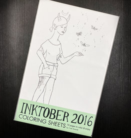 Bee's Knees Industries Inktober 2016 Coloring Sheets by Bee's Knees Industries