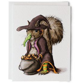 Serious Creatures Halloween Squirrel Card