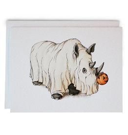 Serious Creatures Halloween Rhino Card