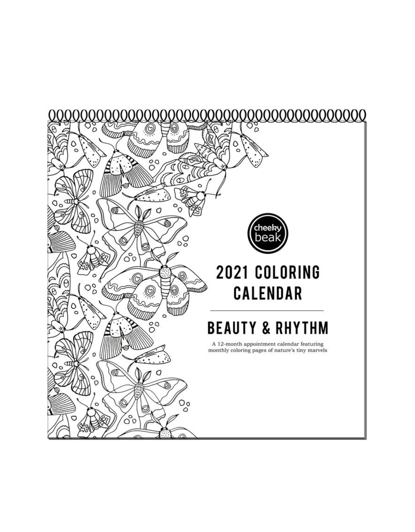 Cheeky Beak Card Co. 2021 Coloring Calendar by Cheeky Beak Card Co.