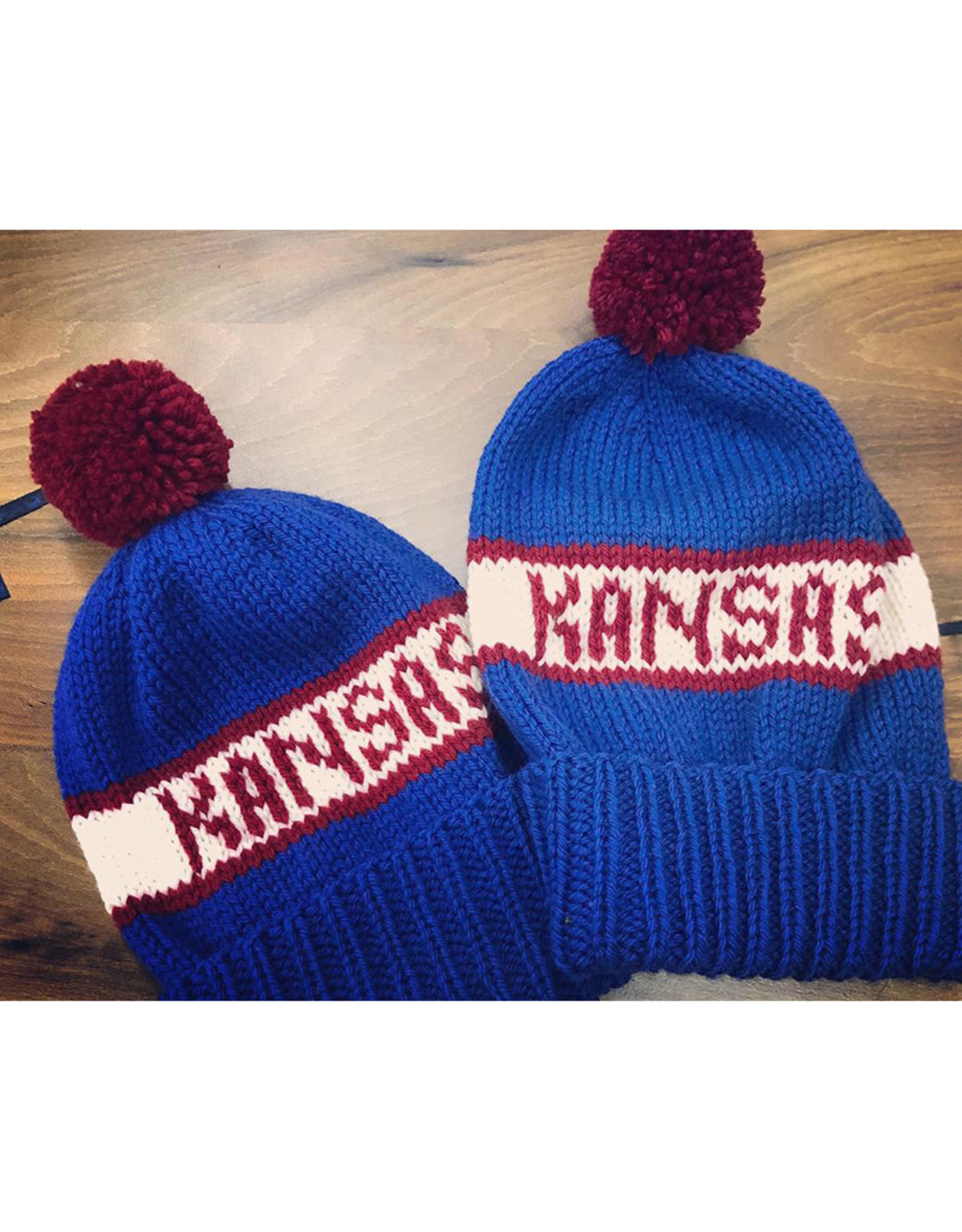 The Knit Hole KU Knit Hats by The Knit Hole