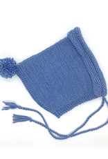 WilleWorks Blue Hand Knit Baby Bonnet by WIlleWorks