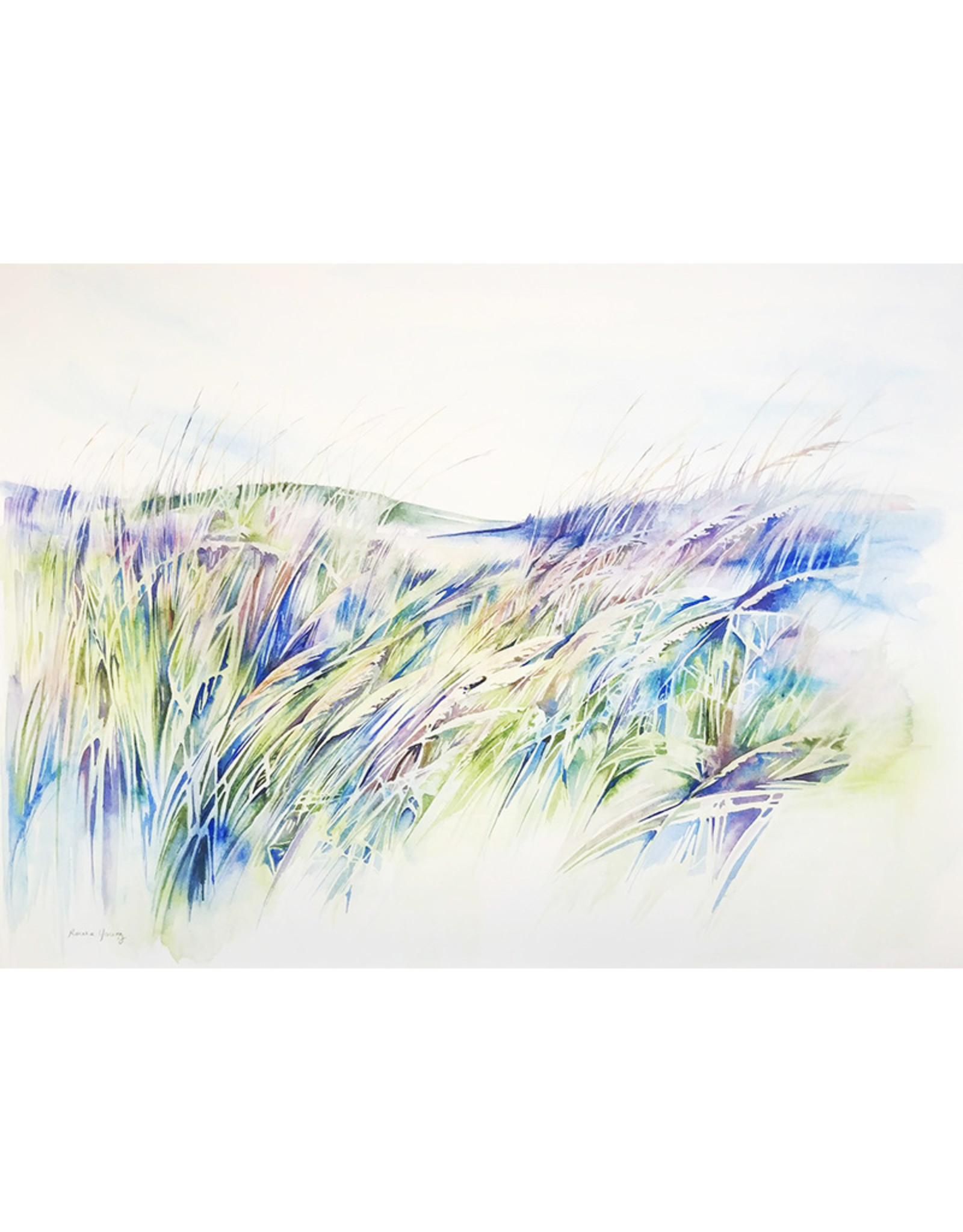 Roura Young September Grasses in Blues