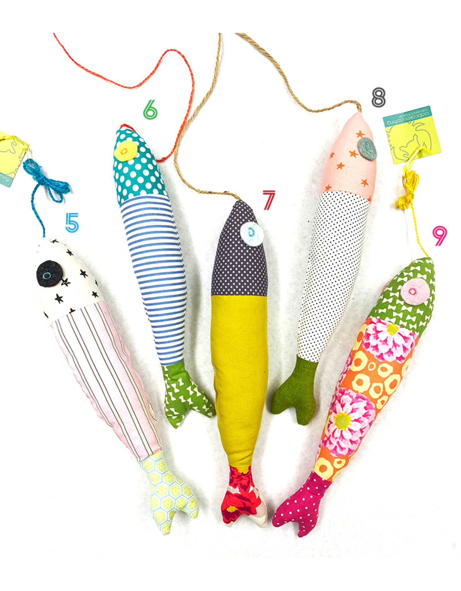 Crabcakes Assorted Hanging Plush Fish by Crabcakes