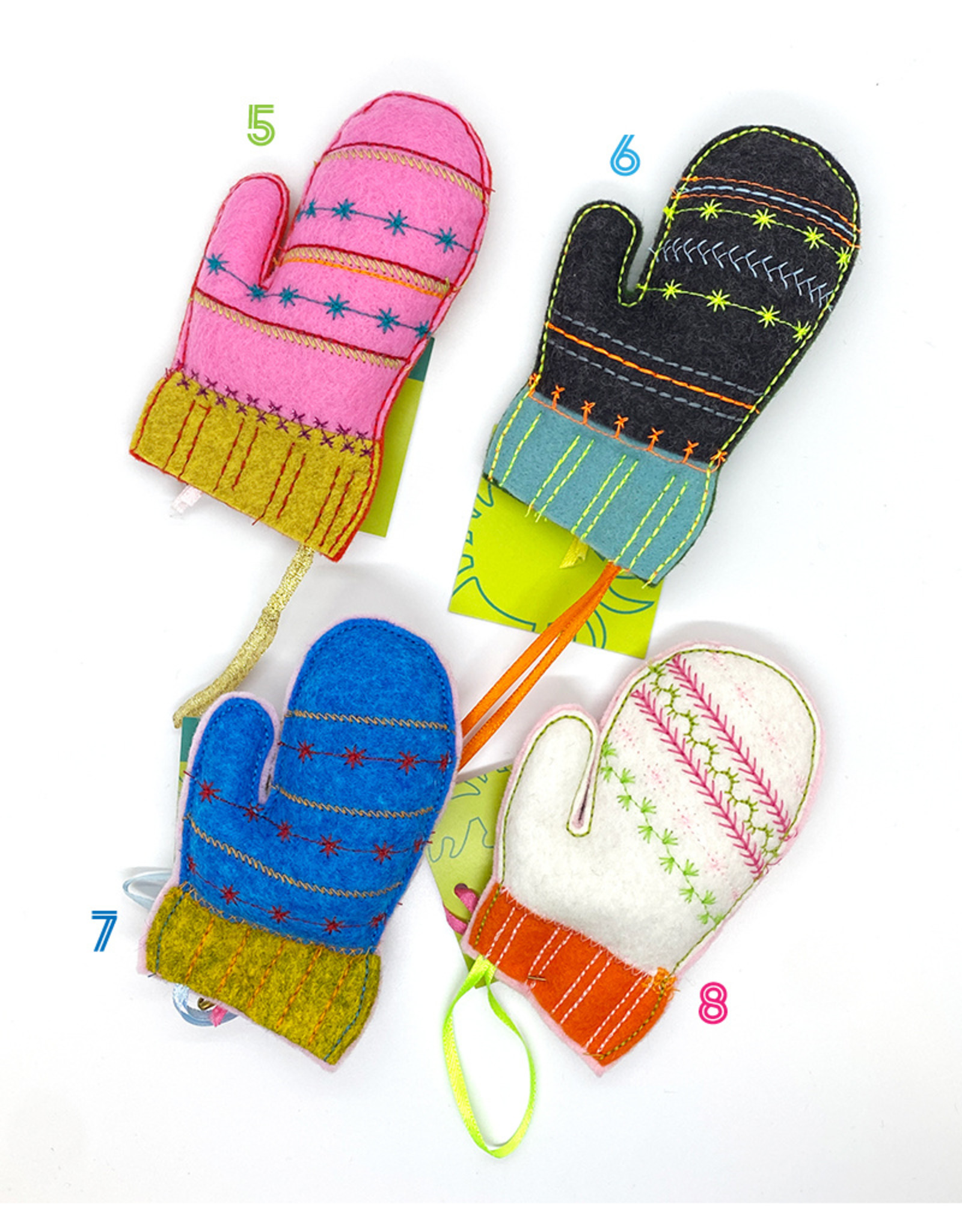 Crabcakes Mitten Ornaments by Crabcakes