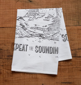 Oh Little Rabbit Repeat The Sounding Joy Tea Towel