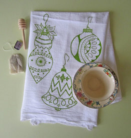 Oh Little Rabbit Ornaments Tea Towel