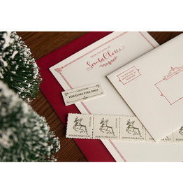 Skylab Letterpress Santa Stationery Kit