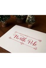 Skylab Letterpress North Pole Card