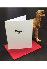 Skylab Letterpress Christmas T-Rex
